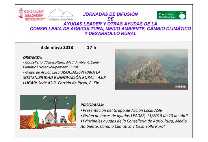 Jornada dinamización desarrollo rural – Jueves 3 Mayo en Museo Puçol (Elche)