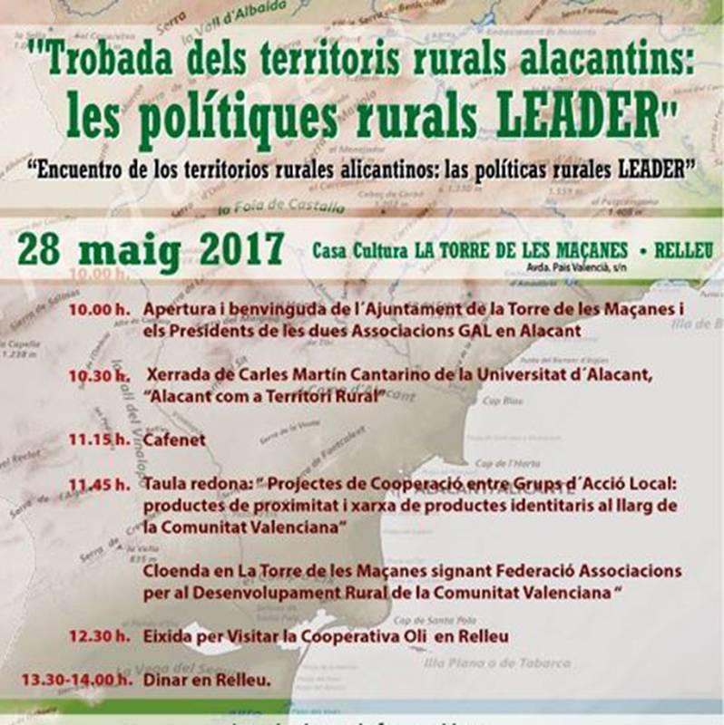 Trobada dels territoris rurals alicantins – La Torre de les Maçanes-Relleu – 28 maig 2017