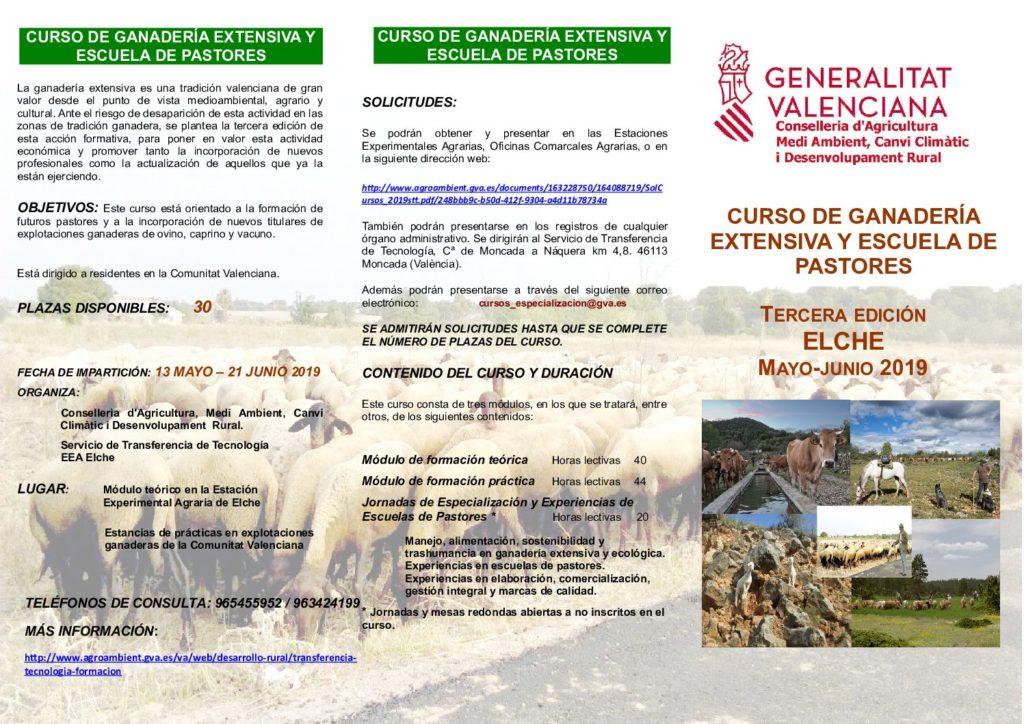 CURSO DE GANADERÍA EXTENSIVA Y ESCUELA DE PASTORES EN ELCHE
