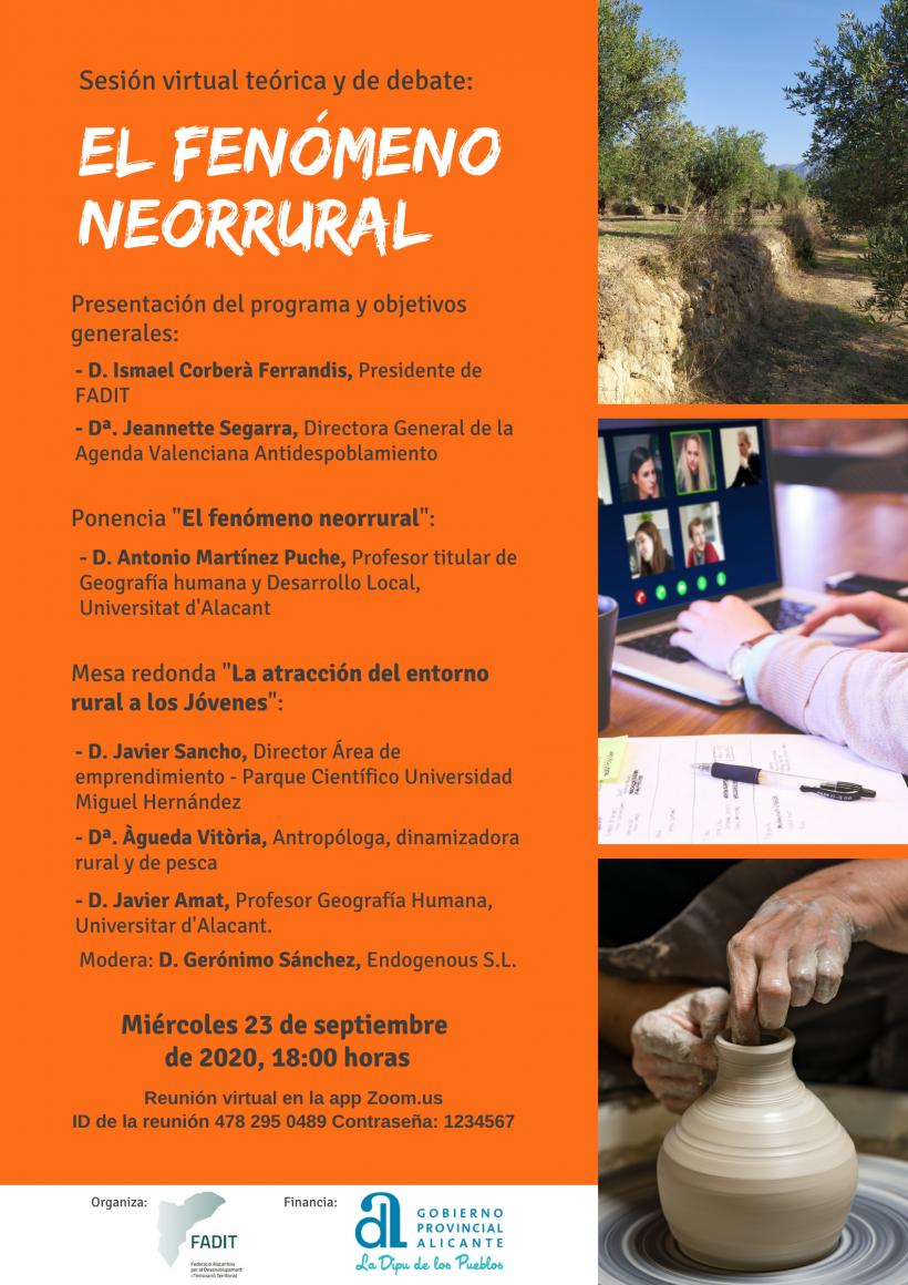 """Sesión online """"El fenómeno neorrural"""""""