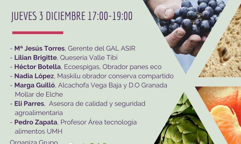Sesión Online – Pequeña industria agroalimentaria – Inscripción