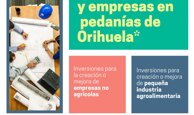 Ayudas Leader para emprendedores y empresas en pedanías de Orihuela