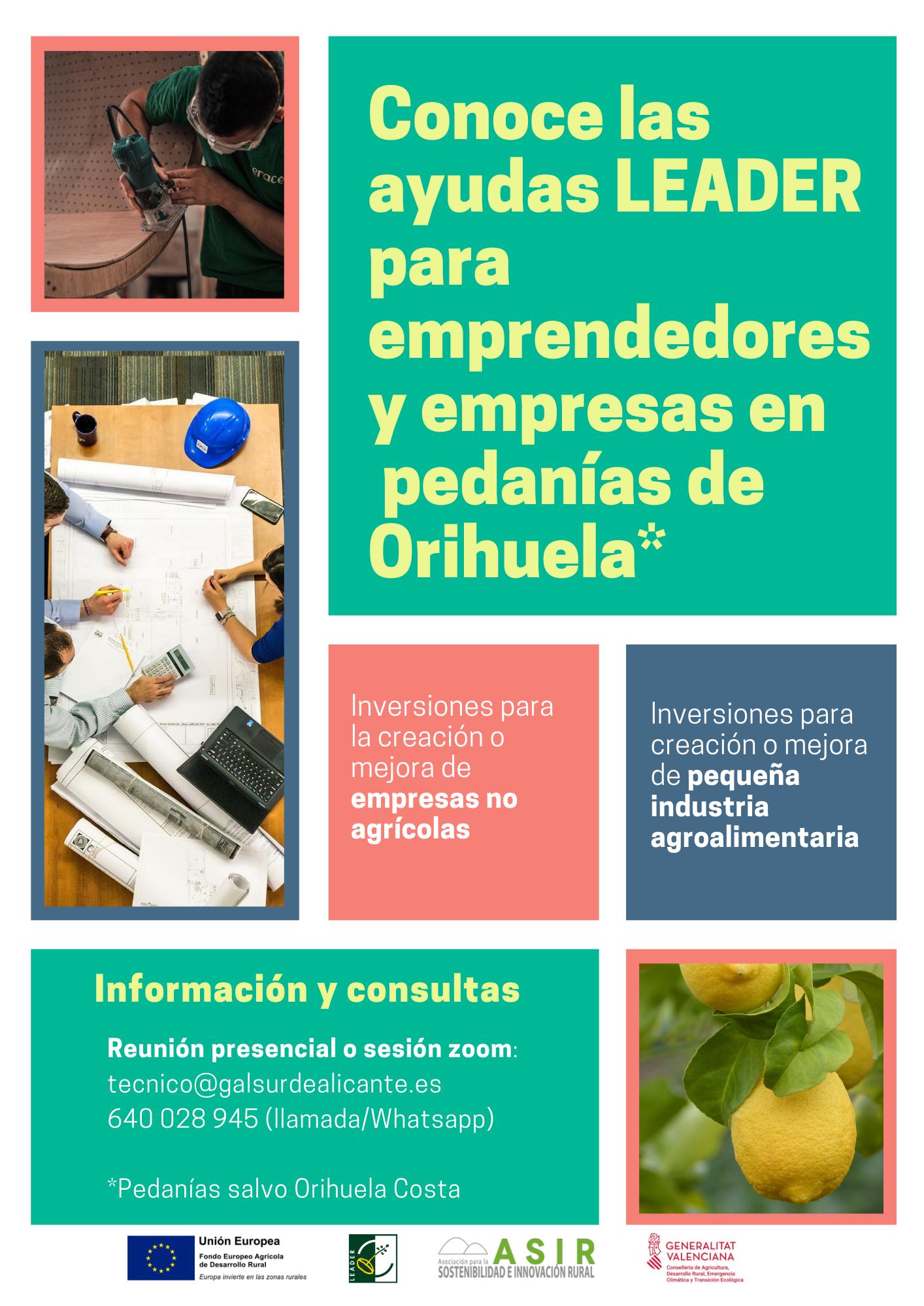 Ayudas leader ORIHUELA PEDANÍAS