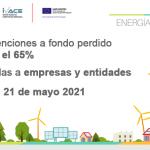 Ayudas de la GVA en materia de Energías Renovables y Biocarburantes, para el ejercicio 2021