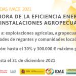 Ayudas de la GVA para la mejora de las eficiencia energética en explotaciones agropecuarias